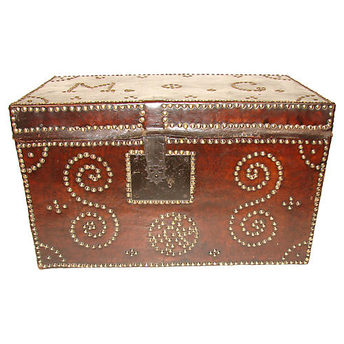 Spanish Leather Studded Trunk