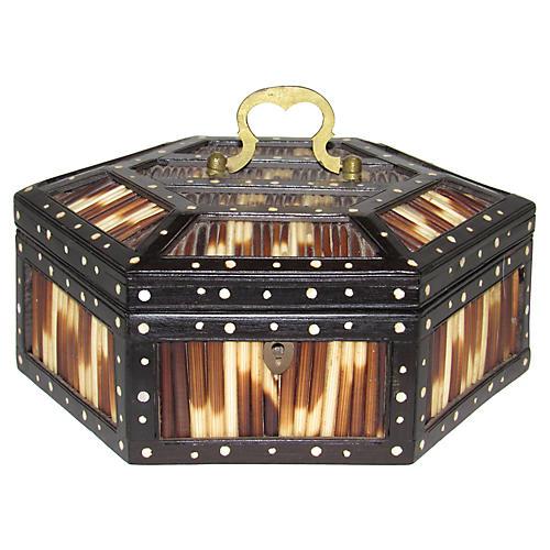 Hexagonal Porcupine Quill Box