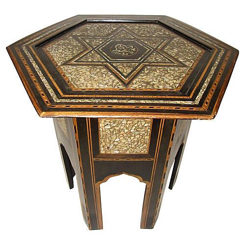 19th-C. Turkish Inlaid Table