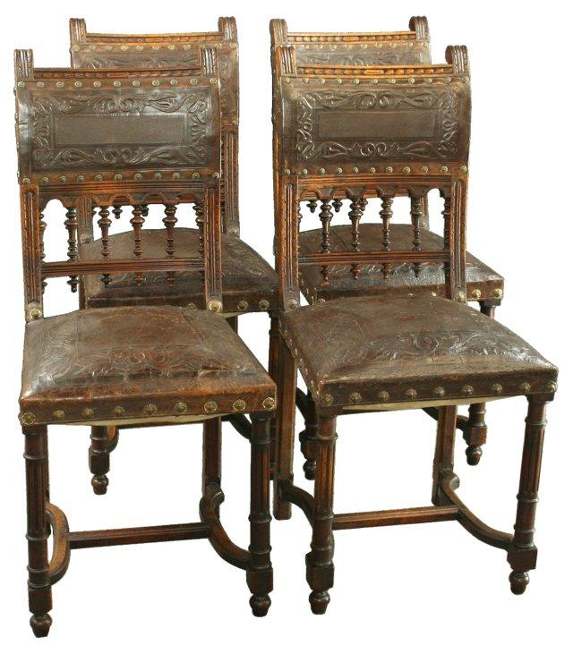 Antique Renaissance-Style Chairs, S/4