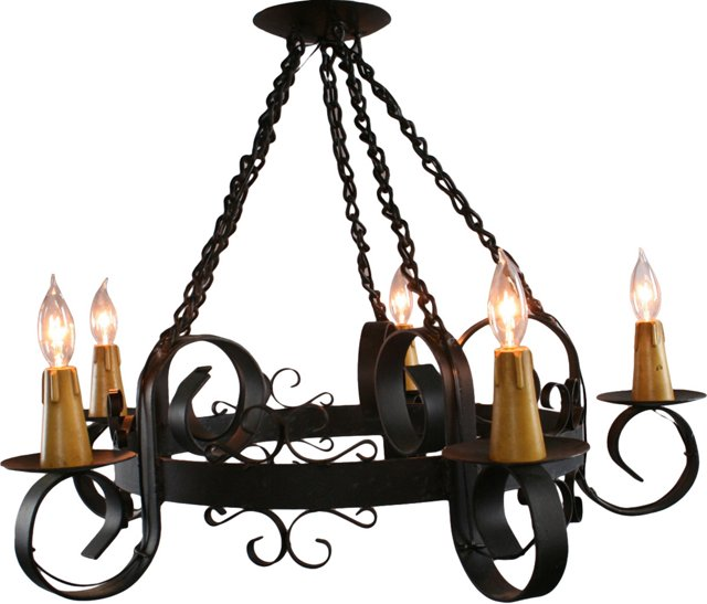 Mission-Style Iron Chandelier