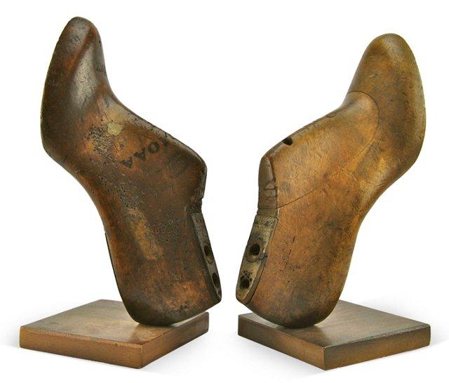 Antique Shoe Mold Bookends