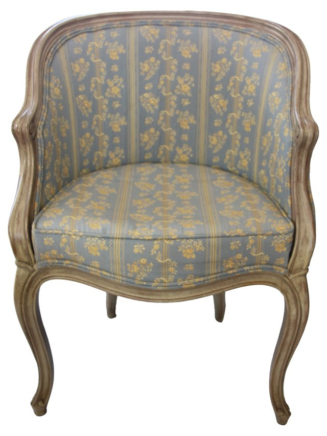French Armchair w/ Floral Upholstery