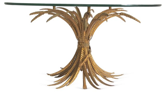 Wheat Sheaf-Motif  Cocktail Table
