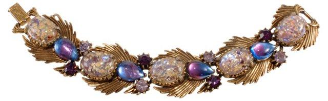 1950s Florenza Rhinestone Bracelet