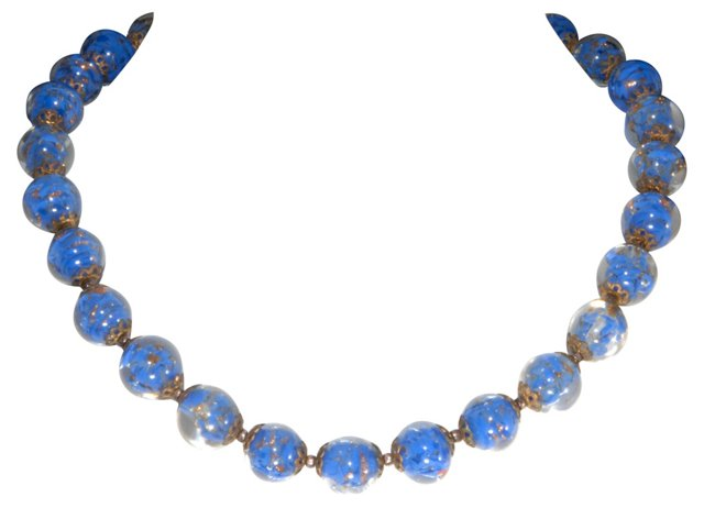 Italian Venetian Glass Necklace Set