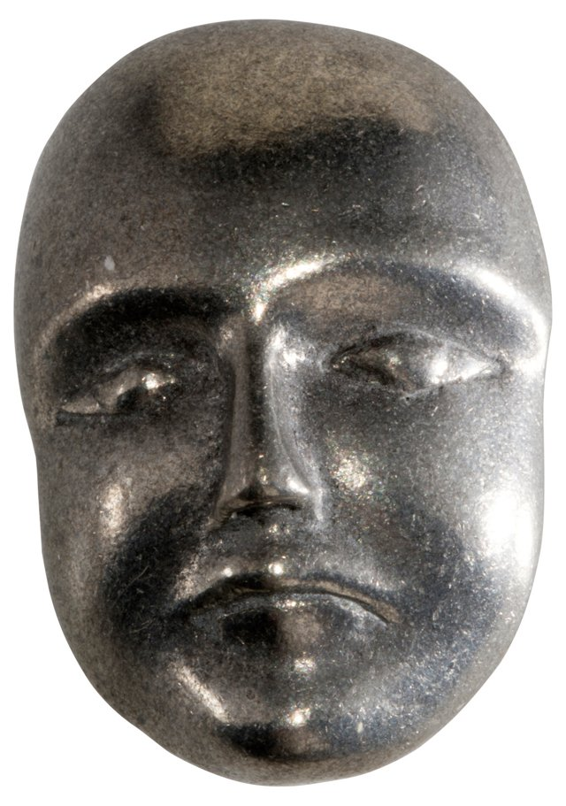1980s Pewter Mask Brooch