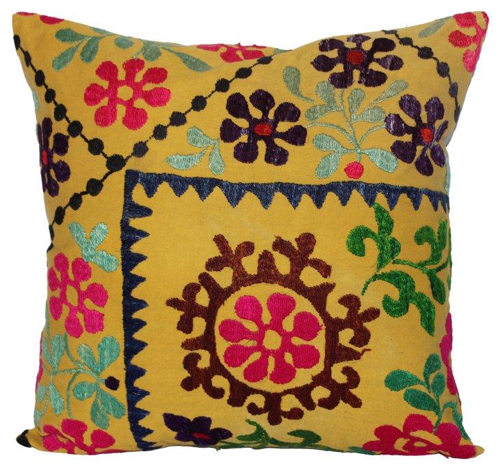 Pillow w/ 1960s Suzani