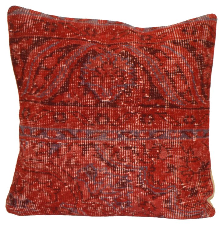 Red Overdyed Rug Pillow