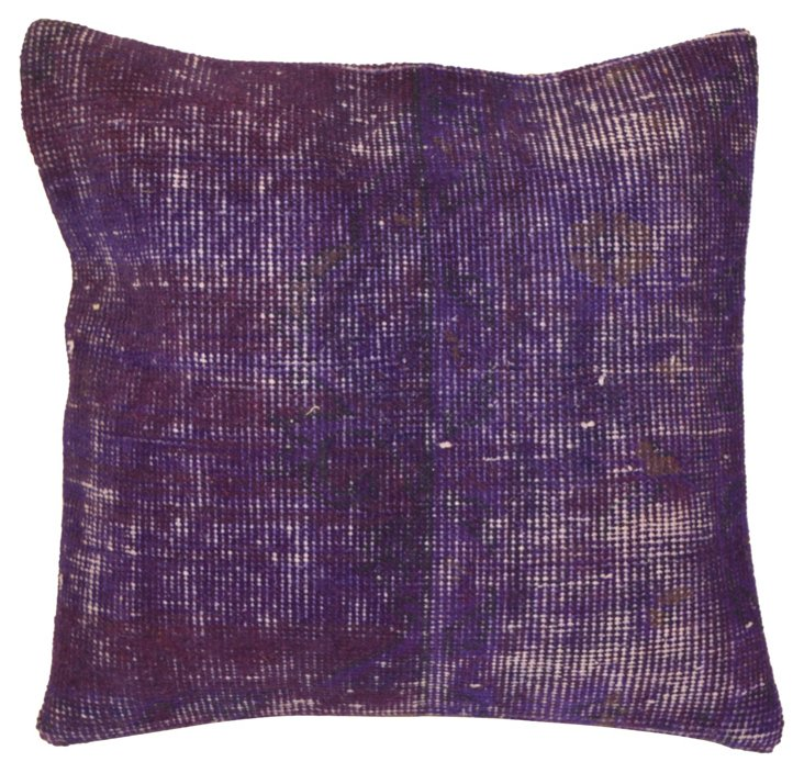 Purple Overdyed Rug   Pillow