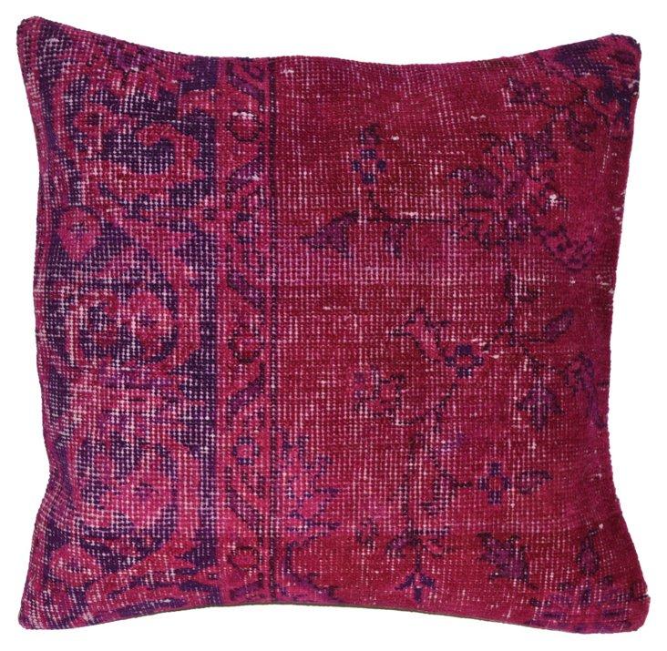 Fuchsia    Overdyed Rug Pillow