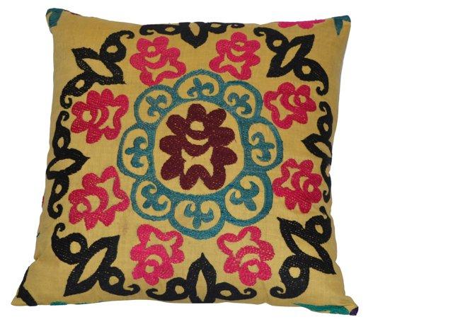 Yellow     Suzani     Pillow