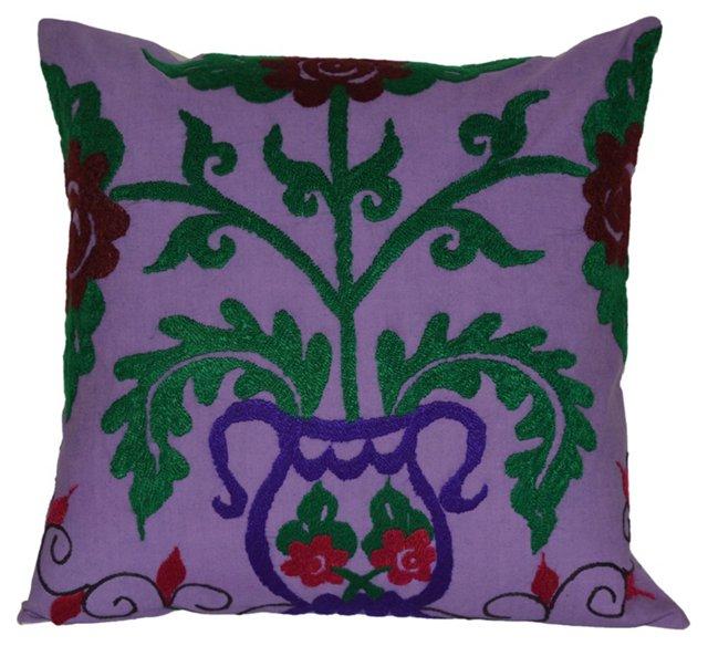 Violet    Suzani Pillow