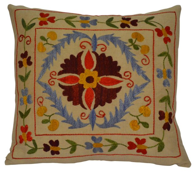 Uzbek     Suzani Pillow