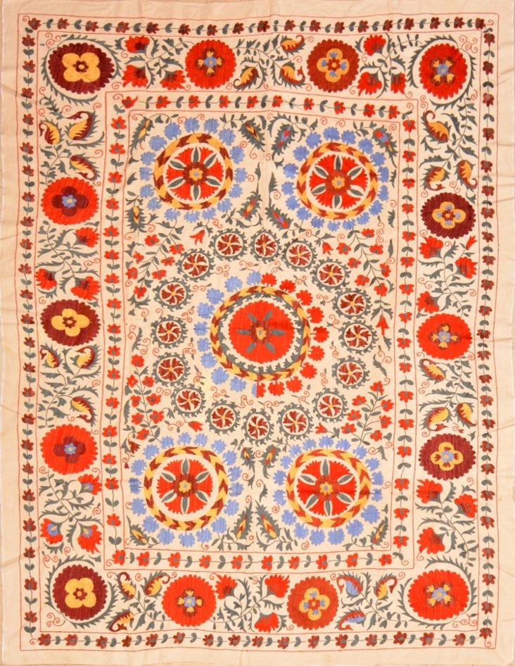 Handmade Silk Embroidered Suzani