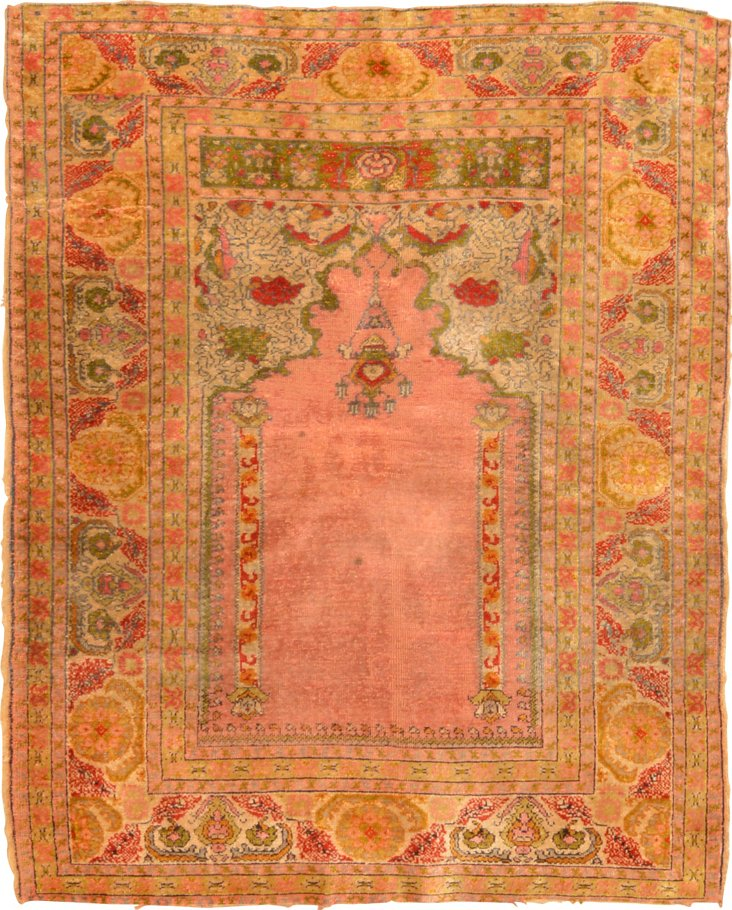 "Antique Floss Silk Kayseri, 3'8"" x 4'7"