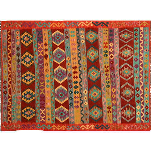"Afghan Kilim, 5'10"" x 8'3"""