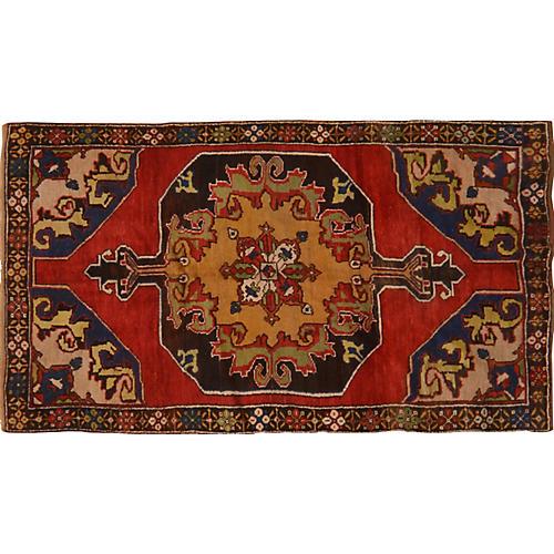 "Turkish Konya Rug, 4'5"" x 7'11"""