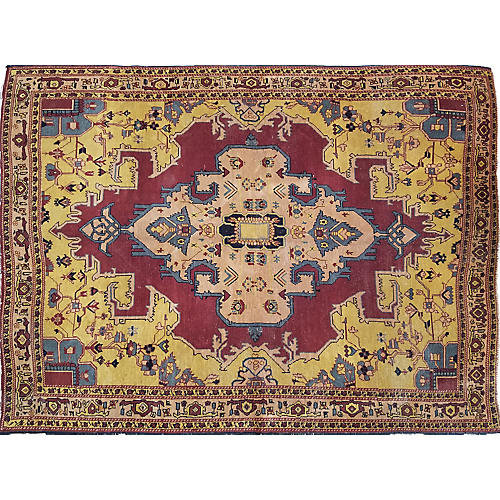 Antique Indian Agra Rug,4'10x6'5""