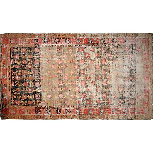 "Antique Khotan Rug, 6'7"" x 11'8"""