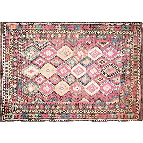 "Vintage Afghan Maimana Kilim,8'x11'1"""