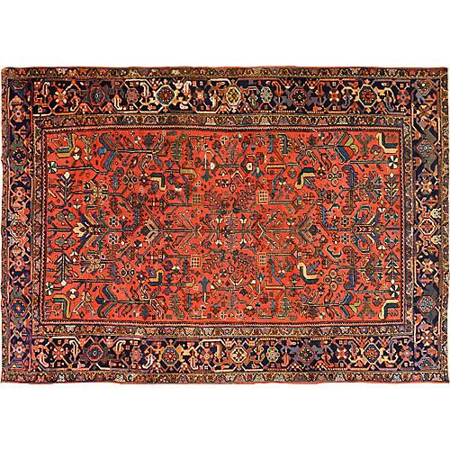 Antique Persian Heriz Rug,7'4x10'5