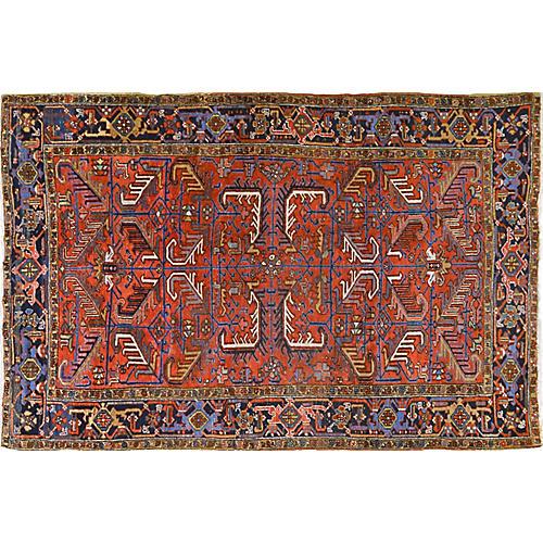 Antique Persian Heriz Rug, 6' x 9'