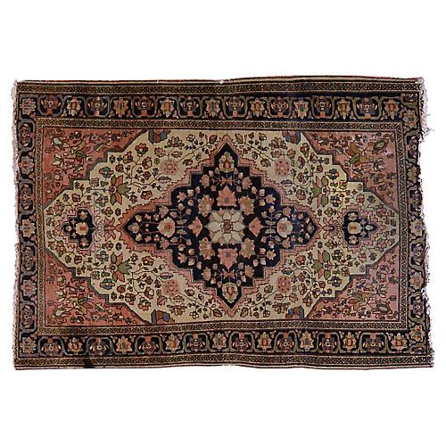 """Antique Persian Rug, 3'4"""" x 4'9"""""""