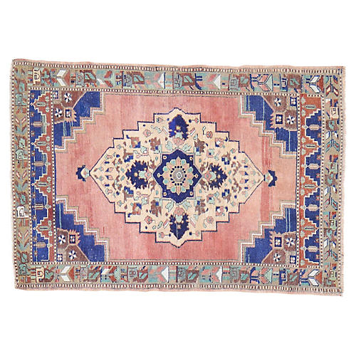 "Turkish Oushak Rug - 3'8""x5'5"""