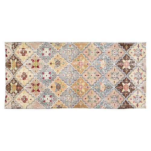 "Turkish Art Deco Rug - 3'3""x6'9"""