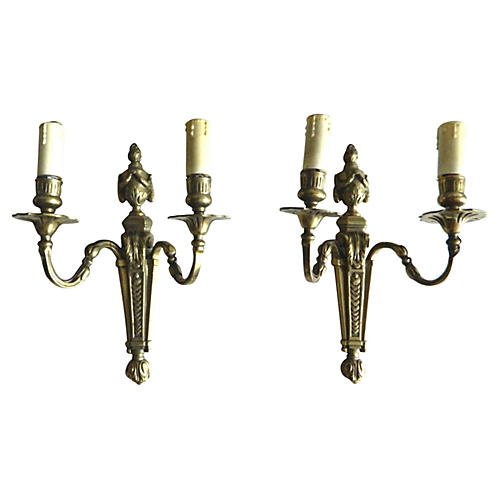 French Empire-Style Sconces, Pair