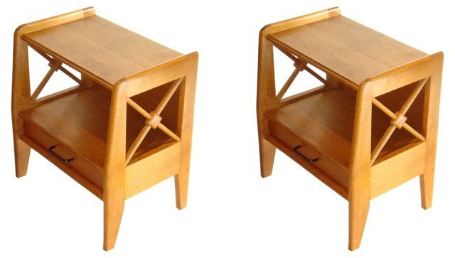 Side Tables by Jacques Adnet, Pair
