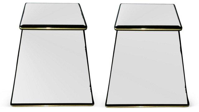 Italian Mirror Pedestals, Pair