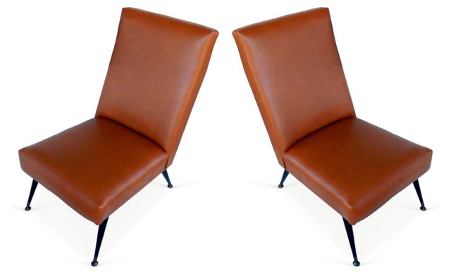 Marco Zanusso Slipper Chairs, Pair