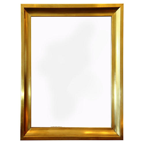 French Brass Mirror, C.1970