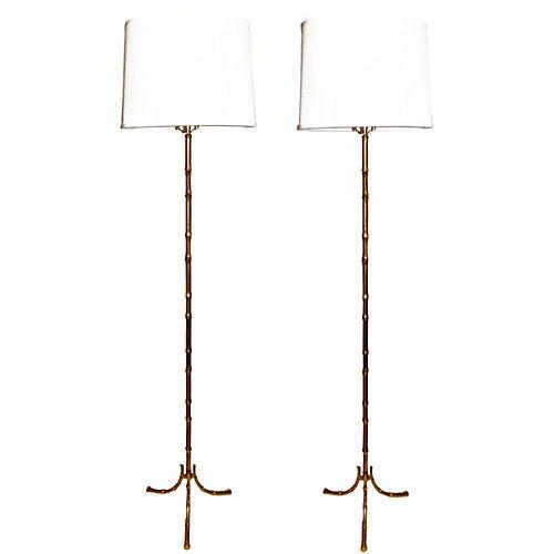 Maison Bagues Lamps, Pair