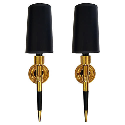 Maison Lancel Sconces, Pair