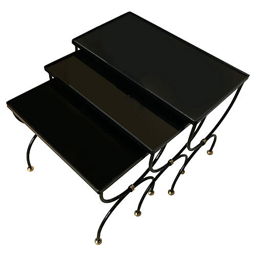Set of 3 Nesting Tables by Jean Royere