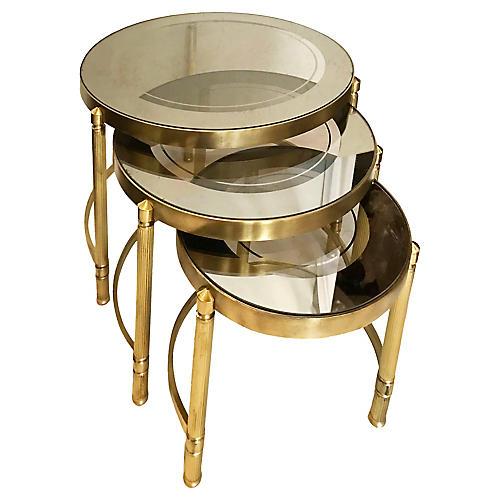 Maison Lancel Nesting Tables, S/3