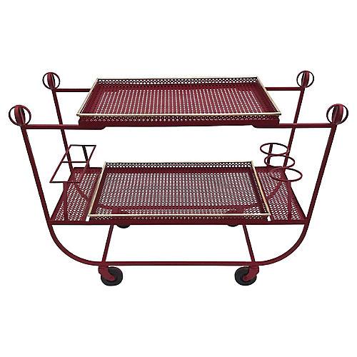 M. Mategot & J. Royere Bar cart