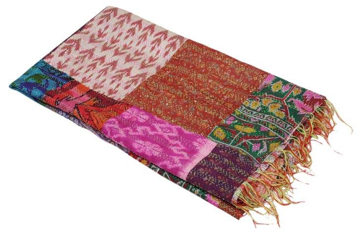 Silk   Kantha Throw