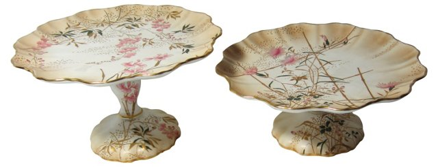 Royal Doulton Burslem Cake Stands, Pair