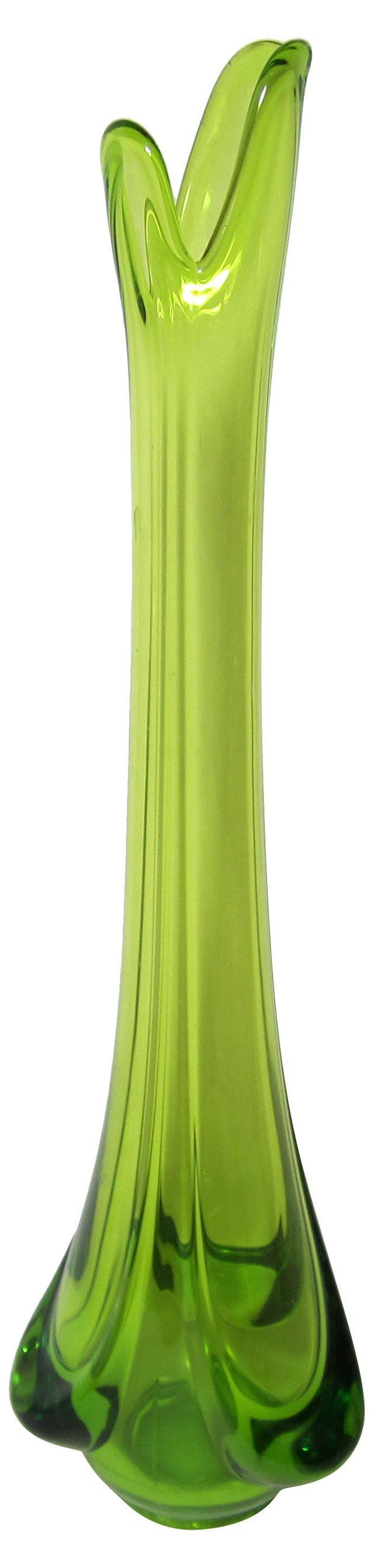 Midcentury Chartreuse Vase