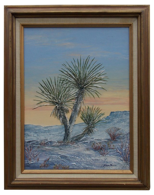 Snow-Dusted Yucca by Wilma Groom