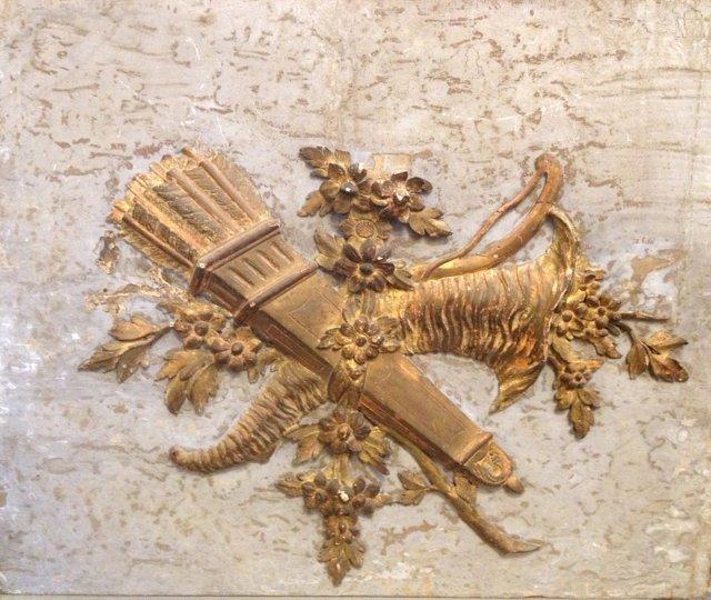 French LXVI Gilt Wood Overdoor Fragment