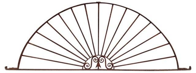 Antique Iron Sunburst Architectural Arch