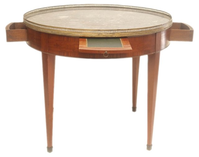 Antique Inlaid Bouillotte Table