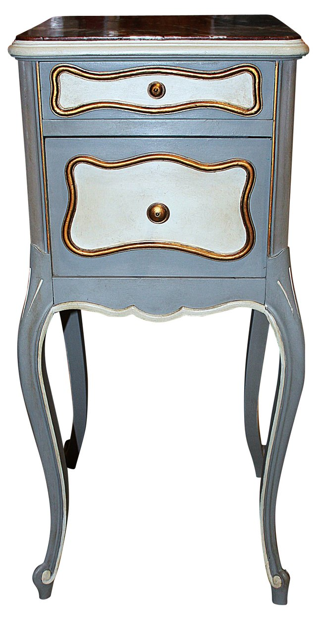 19th-C. French    Painted Nightstand
