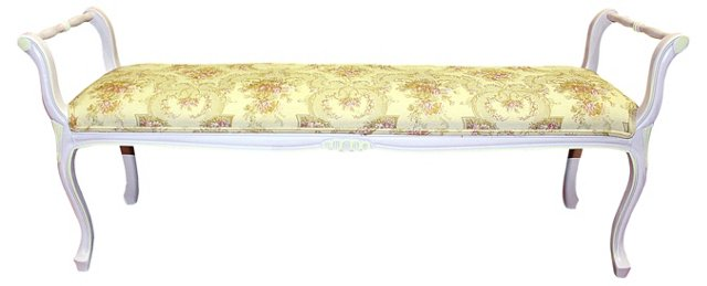 Painted Louis XV-Style   Bench