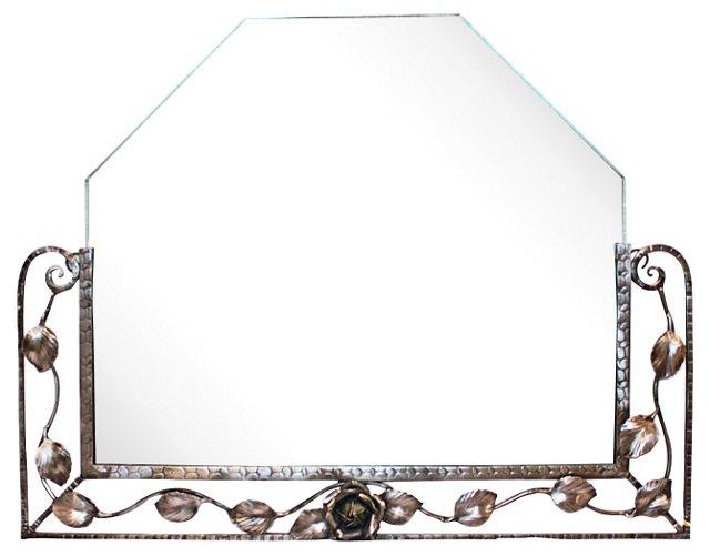 French Art Deco Iron Mirror